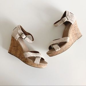 Tom's Sienna Espadrille Wedge Sandals Size 6.5